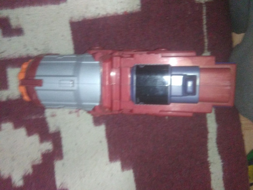 pistola nerf optimus prime cyber blaster con luces y sonidos
