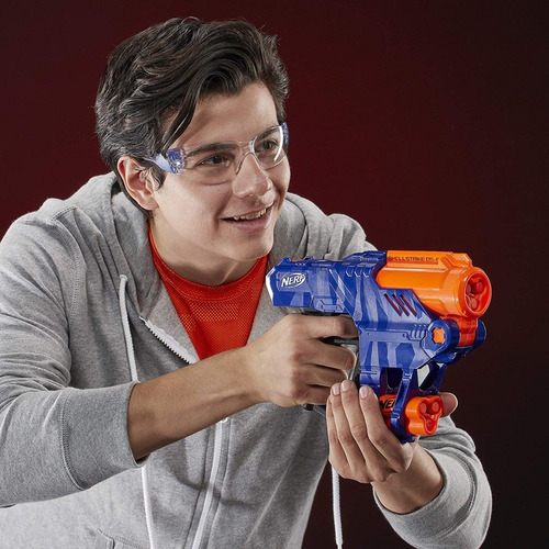 pistola nerf shellstrike hasbro e6171 lanza dardos educando