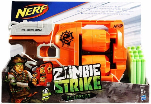 pistola nerf zombie strike flipfury hasbro niño juguete 9603