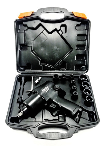 pistola neumática cuadrante de 1/2 + copas marca ferton