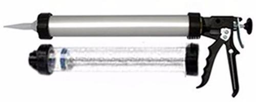 pistola p/ bolsas 600ml. - 2 tubos: aluminio e acrilico