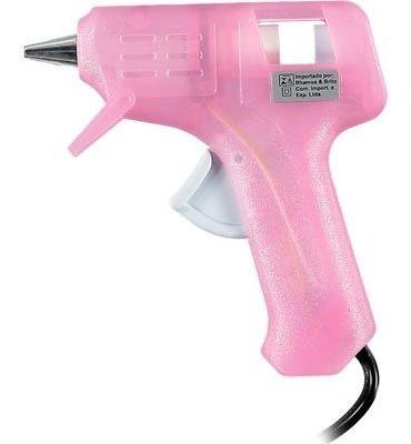 pistola p/ cola quente fina rosa gm-160e rhamos e brito bt 1
