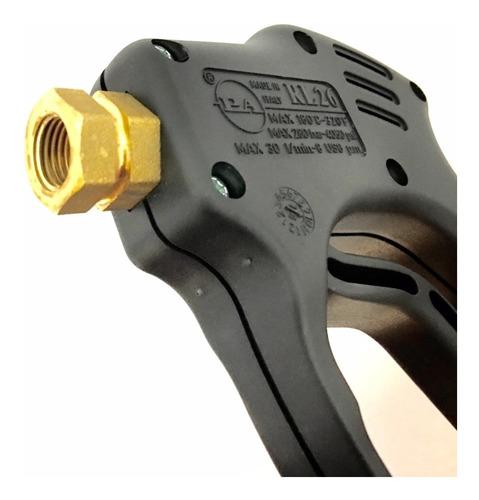 pistola para hidrolavadora industrial de 5 hp alta presión hasta 5000 psi con boquilla ángulo fijo y lanza de 30 cm