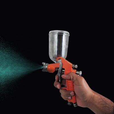 Pistola para pintar gravedad uso general truper 370 - Pistola de pintura sin compresor ...
