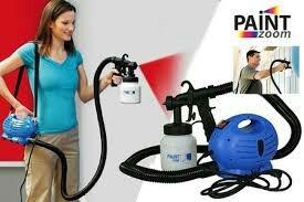 pistola para pintar portátil tv paintzoom azul