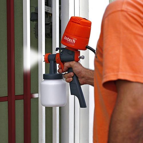 pistola para pintura elétrica hvlp mini compressor 110 /220v