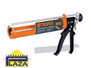 pistola para silicona tipo esqueleto profesional truper