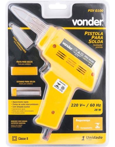 pistola para solda 28w 220v psv0100 vonder