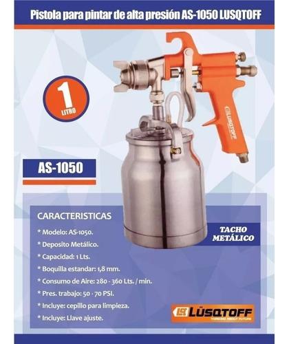 pistola pintar metalico lusqtoff  1l 1.8mm as1050