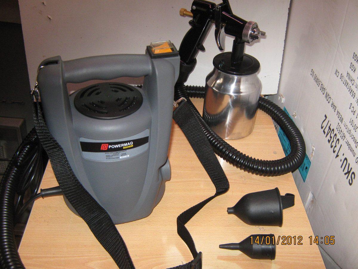 Pistola pintar powermaq germany compresor incorporado 500w - Maquina de pintar electrica ...