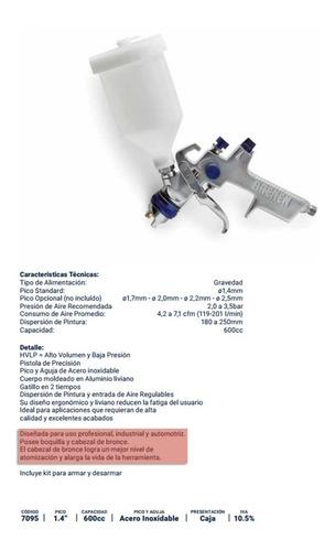 pistola pintar soplete gravedad hvlp bremen 7095 auto prof cod. 7095 dgm