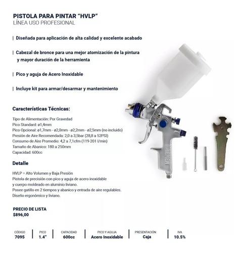 pistola pintar soplete gravedad hvlp bremen® 7095 + regalo