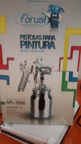 pistola  pintura alta producao apl 2000 forusi regulador ar