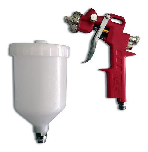 pistola pintura automotiva original usk s-990 1.5mm 600ml