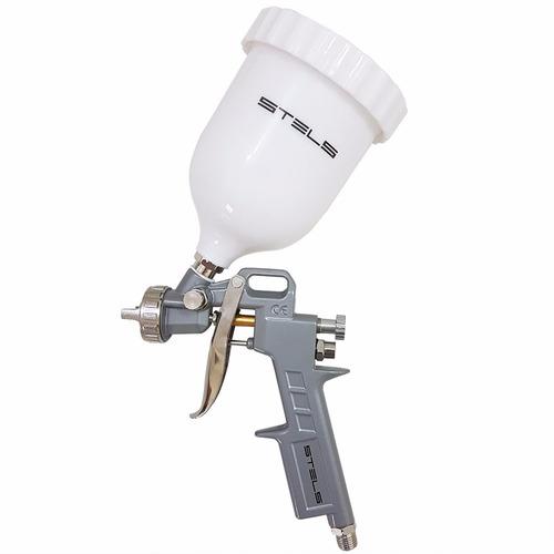 pistola pintura gravidade alta pressão 600cc 3 bicos +brinde
