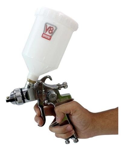 pistola pintura hvlp 8 plus bico 1,4mm - profissional v8