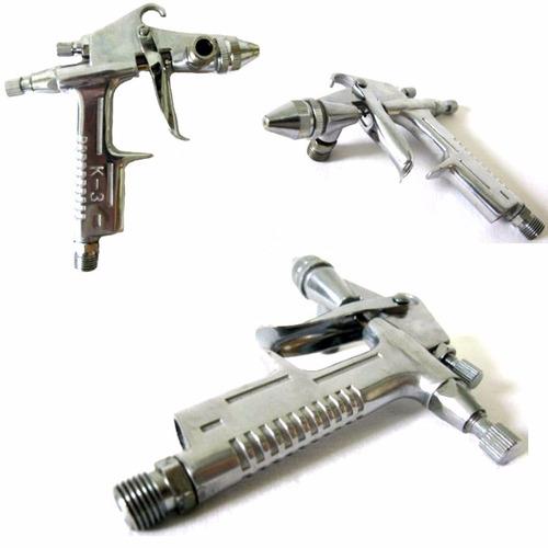 pistola pintura k3 gravidade bico 0.5 aerografo western sg31