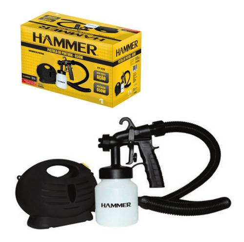 pistola pintura portatil compressor 650w hammer - 110v (pp65