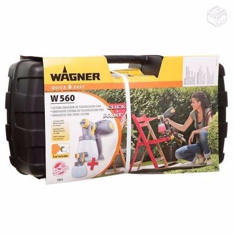 pistola pintura pulverização wagner w560 110v - nova sem uso