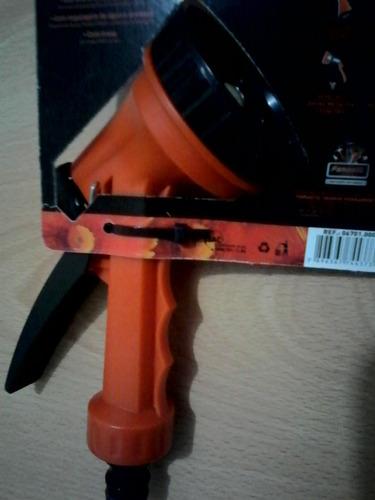 pistola plástica de riego 5 funciones