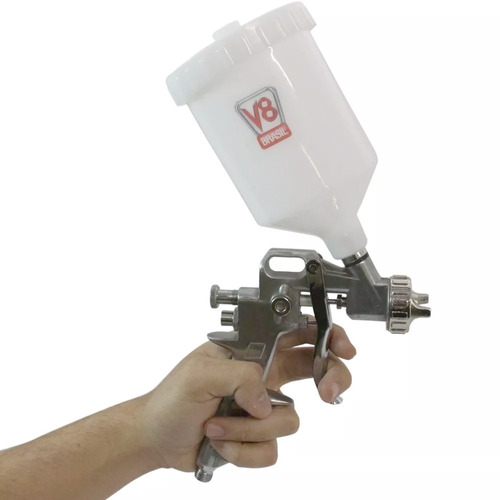 pistola pp3 gravidade pintura - caneca 600 ml v8