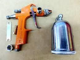 pistola p/pintar de gravedad truper vaso giratorio 450ml