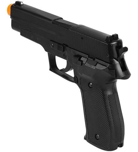 pistola pressão chumbinho esfera aço 4.5 kwc p226 semi metal