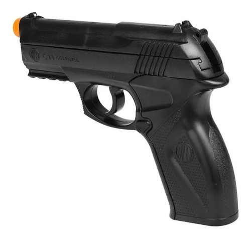 pistola pressão rossi co2 c11 4,5mm - não tem ponta laranja