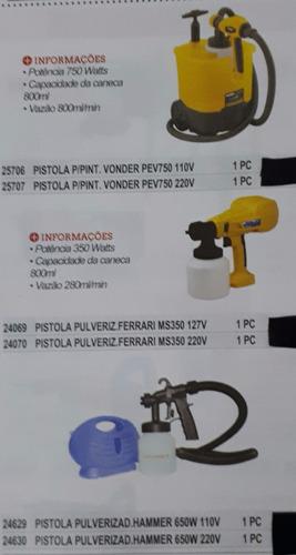 pistola pulveriz ferrari ms350 127v cod 24069  1 pç