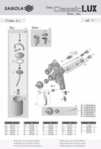 pistola sagola classic lux 1.4