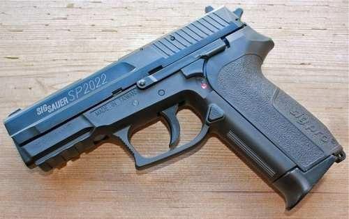 pistola sig sauer sp2022 co2 6mm airsoft metal slide