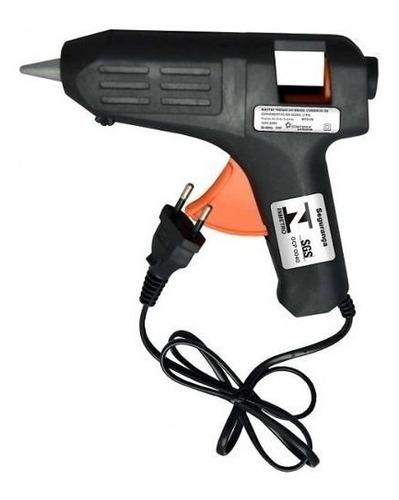 pistola silicone profissional cola quente 10w bi-volt