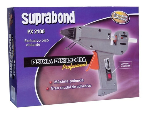 pistola suprabond px 2100 + barras ultrantransparentes 1kg
