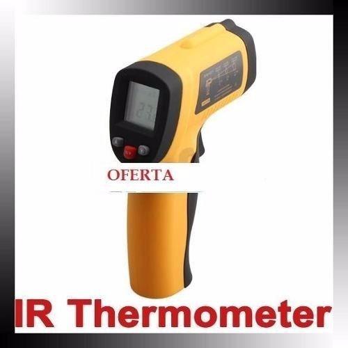 pistola termómetro digital infrarrojo láser no contacto