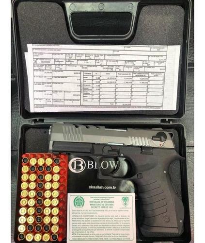 pistola traumatica blow tr92 +50 tiros + 2 proveedores