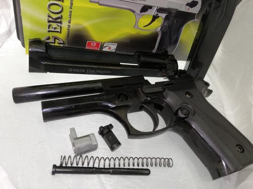 pistola traumatica ekol magnum + 50 tiros + 2 proveedores