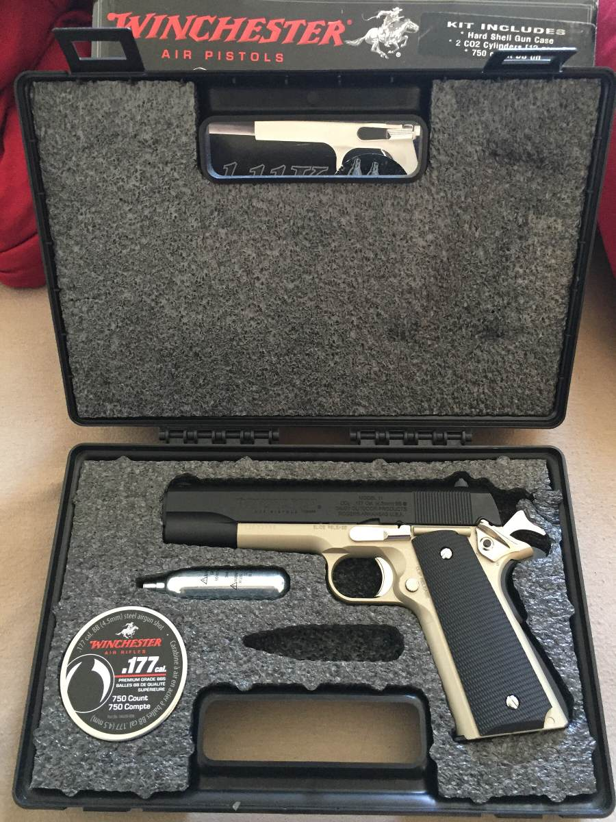 Pistola winchester 11k semi auto co2 kit with case airsoft r carregando zoom fandeluxe Image collections