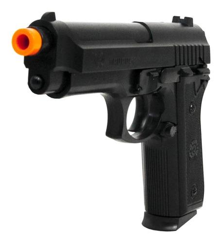 pistola/airsoft cybergun taurus pt92 + maleta luxo + 2000bbs