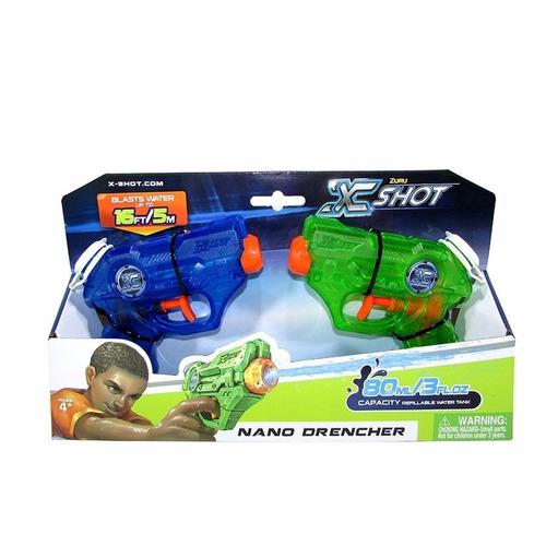 pistolas de agua juguete x shot warfare nano batalla de agua