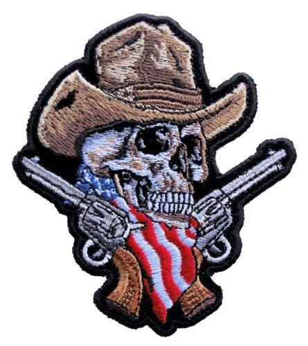 Pistolas De Calavera De Cowboy Americanas Medianas Supremas