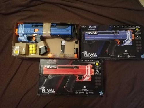 pistolas nerf rival 7x nuevas (3 pistolas por $1000)