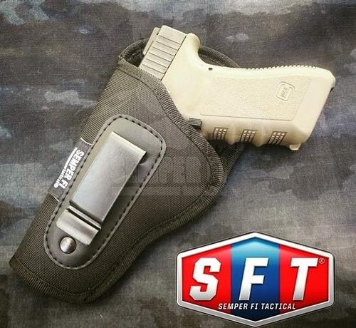 pistolera interna universal negra lado zurdo de sft®