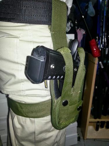 pistolera muslera tactica militar tipo geof