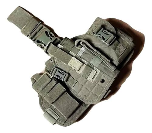 pistolera muslera tactica universal porta cargador y objetos