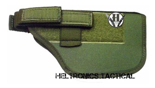 pistolera tactica verde horizontal molle universal coihue