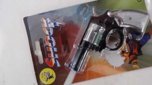 pistolita juguete revolver con las funciones luz y tokes