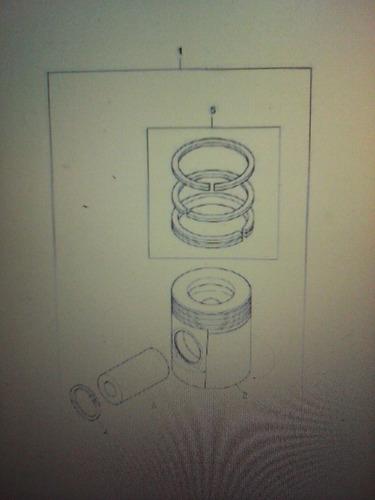 piston con anillos 020 para motor perkins 1104 cat 3054