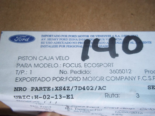 piston de retroceso caja aut. ecosport, focus original