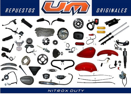 pistón y anillos standar moto um nitrox 150 r original