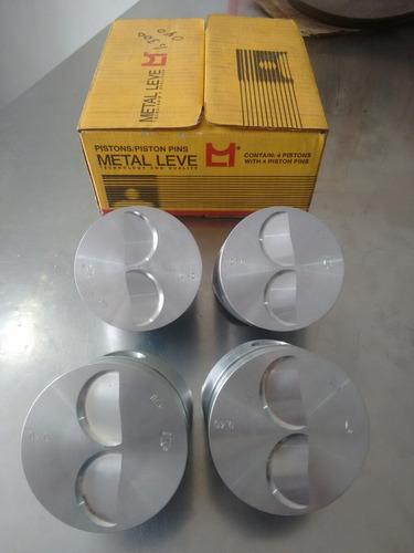 pistones con anillo fiat uno 147 metalleve 0.40 original